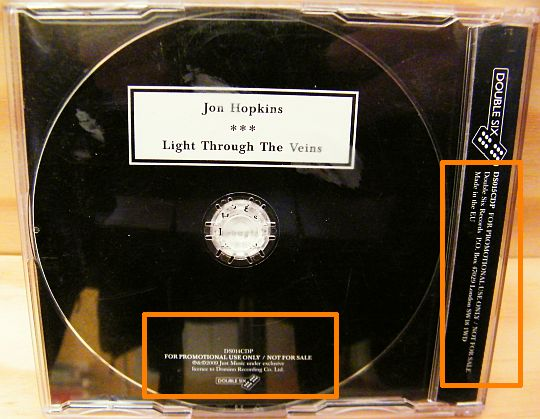 CD sampler collector de Jon Hopkins - Light through the veins