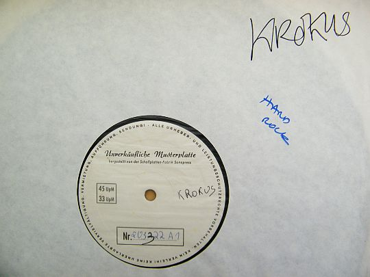 LP White Label Test Pressing face A de Krokus - Hardware