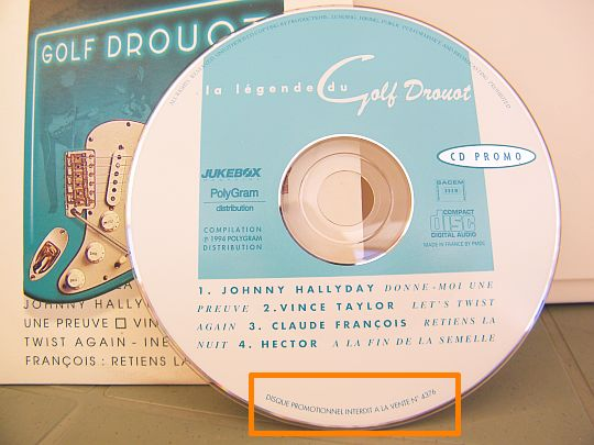 CD collector sampler légende du Golf Drouot