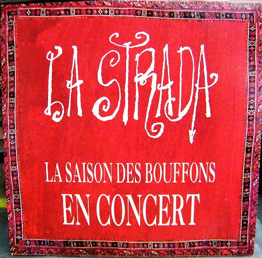 recto du CD single promo Collector de la Strada - La saison des bouffons en concert