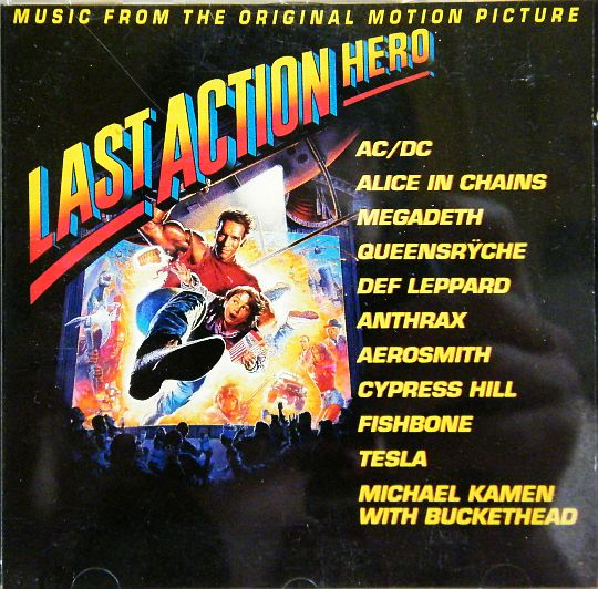 recto de l'Audio Press Kit de LAST ACTION HERO