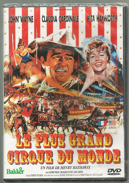 recto du DVD promotionnel d'Henry Hathaway - Le plus grand cirque du monde