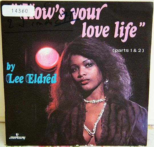 pochette recto du 45 tours Collector de Lee Eldred - How's your love life 1 et 2