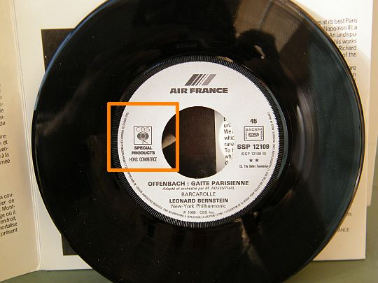 disque vinyle Collector Air France - face B