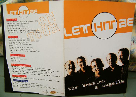 livret biographique pour Let Hit Be, reprises des Beatles a capella