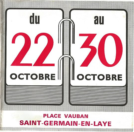 du 22 au 30 octobre 1967 place Vauban à Saint Germain en Laye