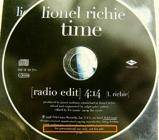 CD collector Lionel RICHIE