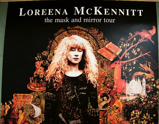 affiche promo de Loreena McKennitt pour The mask and mirror tour au Bataclan