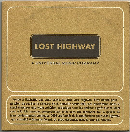 recto du CD promo collector Lost Highway