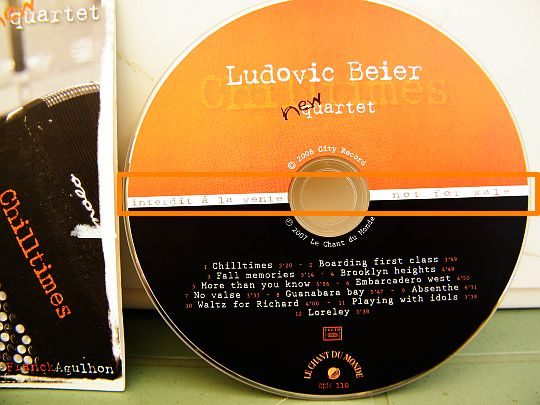 CD collector Chilltimes par Ludovic BEIER New Quartet