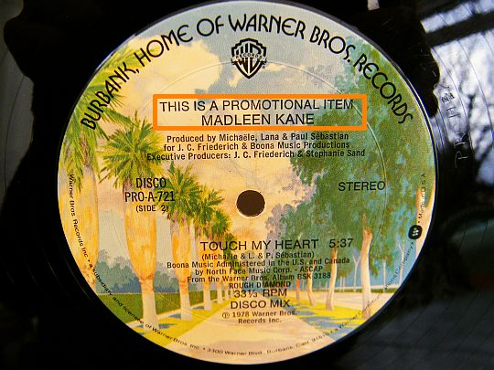 disque maxi 33t de Madleen Kane - Rough diamond face B