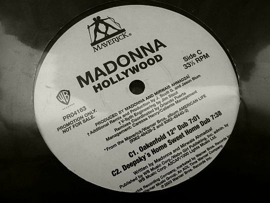 face C du maxi vinyle Collector promotionnel de Madonna - Hollywood