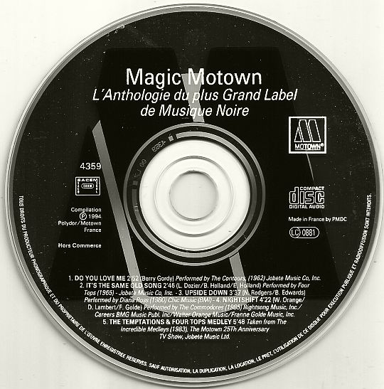 disque compact promotionnel Magic Motown Collector