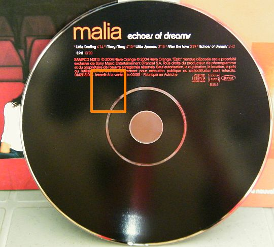 CD audio sampler promo + EPK de MALIA - Echoes of dreams