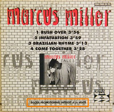 cd promo Marcus Miller verso - rush over