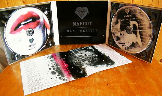 dépliant promotionnel avec double CD Collector de Margot - Manipulation