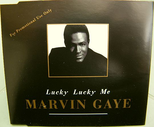 recto du CD single promotionnel de Marvin Gaye - Lucky lucky me