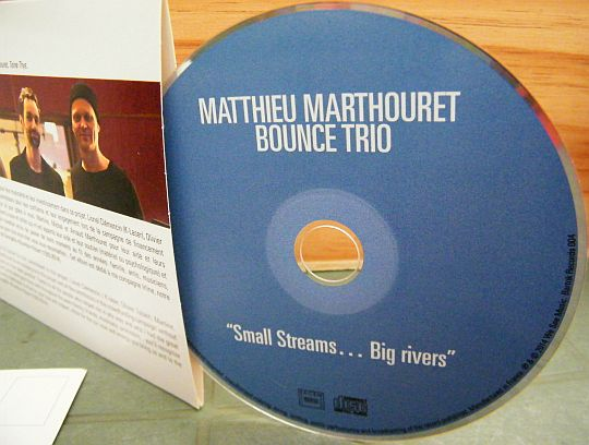 CD promo Collector de Matthieu Martouret Bounce Trio - Small streams big rivers