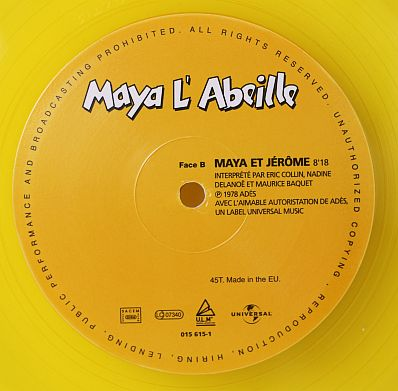 Disque Vinyle Jaune Maxi 45 Tours 233 Dition Limit 233 E Maya L