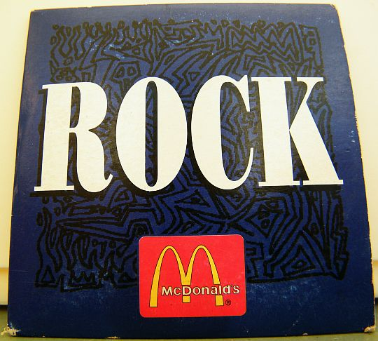 recto du mini-CD sampler McDo - Rock
