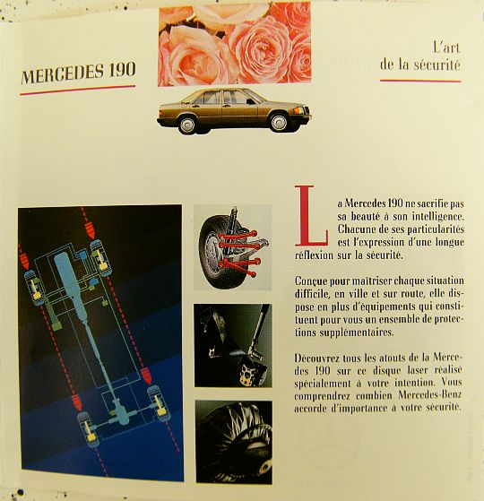 livret promo collector Mercedes Benz 3