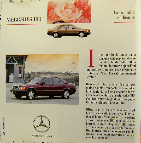 livret promotionnel collector Mercedes Benz 4