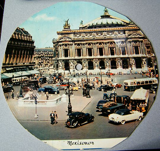 recto du 45 tours carte postale Mexisonor - Palais Garnier