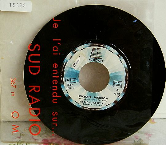 45 tours promo Collector nu de Michael Jackson - One day in your life face 1