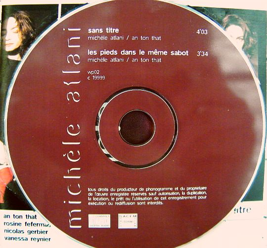 CD collector sans titre de Michèle Atlani