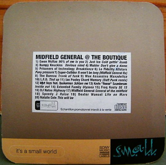 recto du CD Collector Midfield General @ the boutique