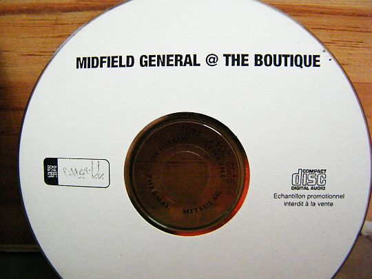 CD échantillon promotionnel interdit à la vente Midfield General @ the boutique