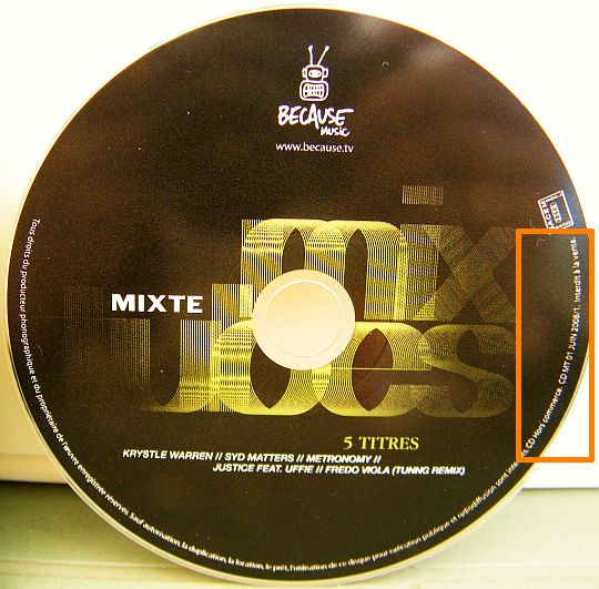 CD de la compilation Mix vibes offerte par MIXTE