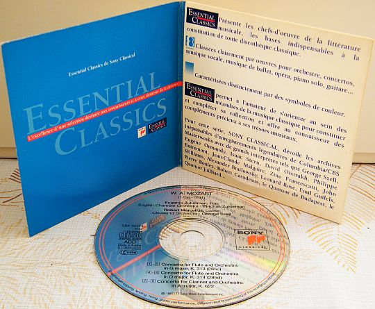 CD sampler collector promo des concertos de MOZART