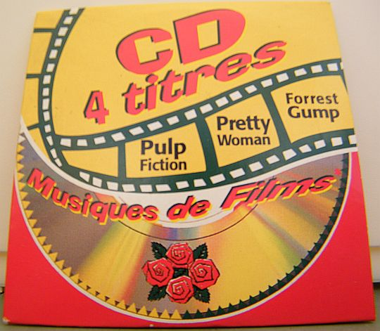 recto du mini-CD sampler Four Roses - Musiques de films
