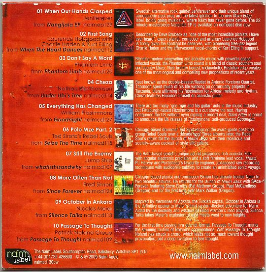 verso du CD Collector Sampler 7 Naim Label