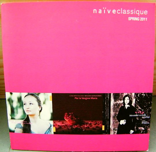 recto du CD sampler Collector promo Naïve Classique spring 2011