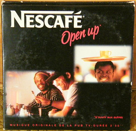 recto du mini CD single monotitre Collector Nescafé - Open up pochette carton