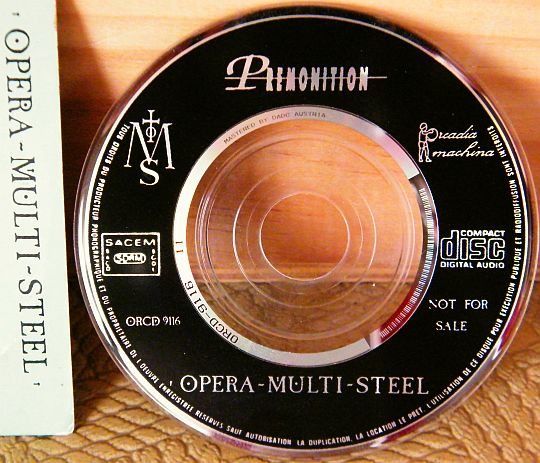 mini CD Collector promo 4 titres d'OPERA MULTI STEEL - Les martyrs dans POESIE-SONORE.COM