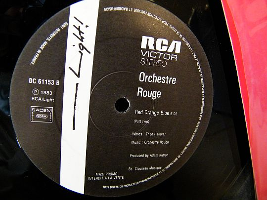face B du maxi promo Collector d'Orchestre Rouge - Red orange and blue (part two)