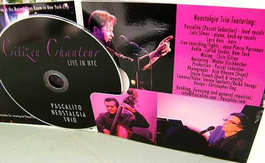 CD Collector de Pascalito Neostalgia Trio - Citizen chanteur live in NYC