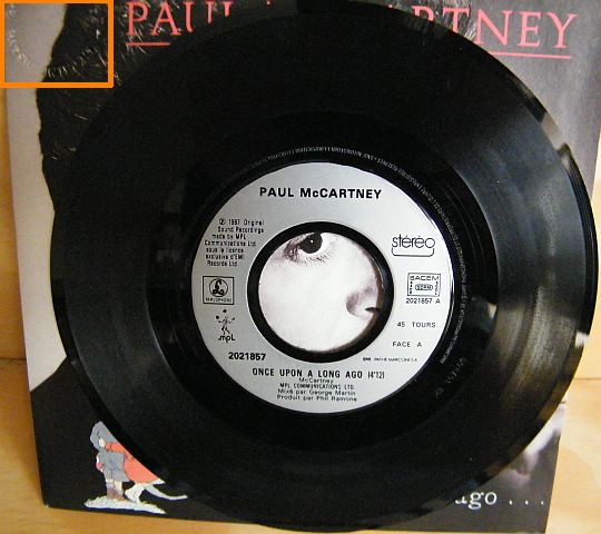 face 1 du 45t promo de MacCartney - Once upon a long ago