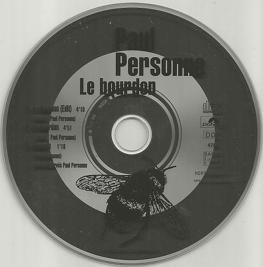 maxi CD promotionnel de Paul Personne - Le bourdon