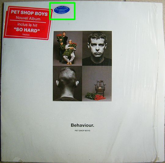 pochette du LP promo Collector de Pet Shop Boys - Behaviour