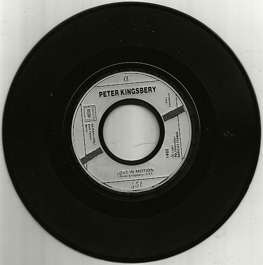 SP monotitre monoface hors commerce Love in motion version radio par Peter Kingsbery
