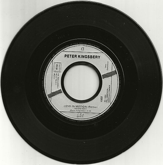 45 tours monoface/monotitre hors commerce Love in motion remix radio edit de Peter Kingsbery