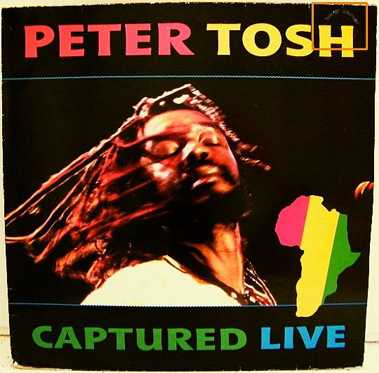 recto pochette Peter Tosh - Captured live
