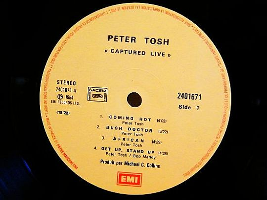 face 1 Peter Tosh - Captured live