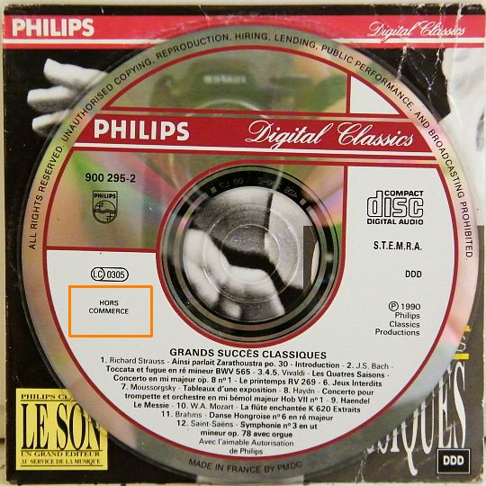 CD Philips sampler collector
