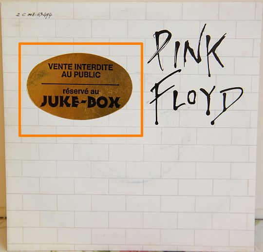 recto du 45 tours collector spécial Juke-Box des Pink Floyd - Another brick in the wall part 2