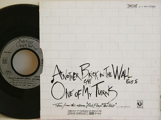 verso du 45 tours collector spécial Juke-Box des Pink Floyd - One of my turns